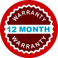 12 month full warranty